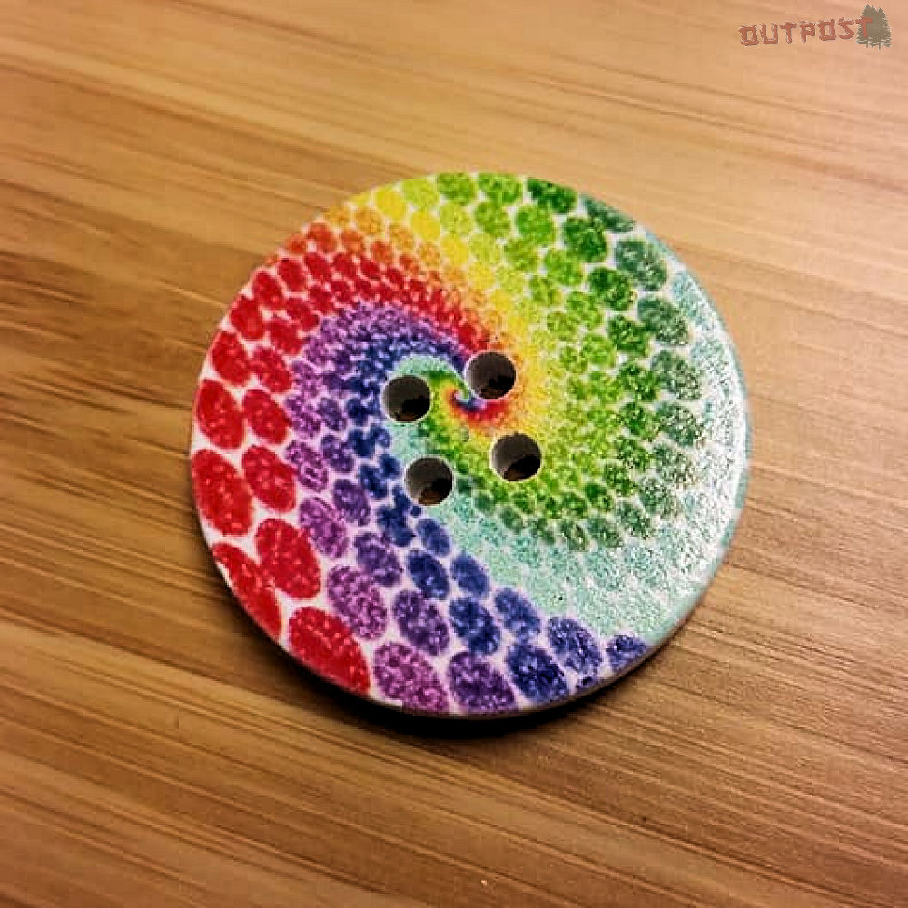 Button - Rainbow